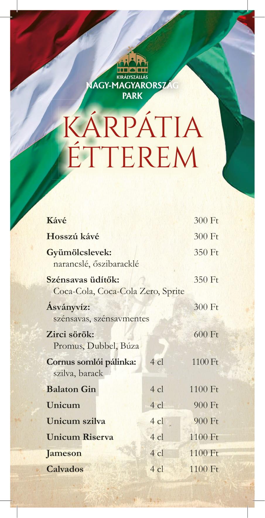 Karpatia Kavezo menukarta 1